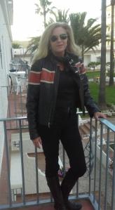 Cazadora de cuero de Harley