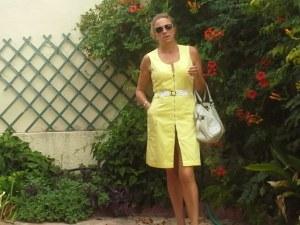 Vestido amarillo cremallera