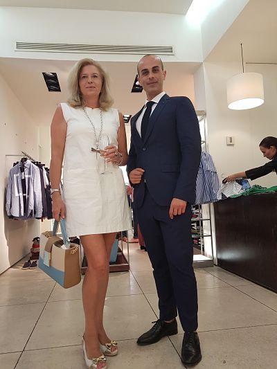 """""""Cinin en la tienda de Purificación García Málaga"""""""