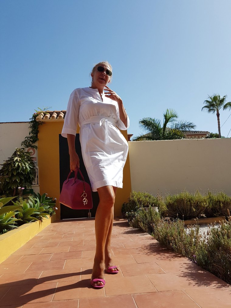 vestido blanco otoño